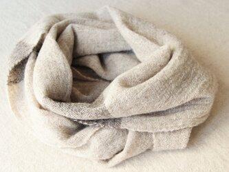 ホームスパン強撚糸風スヌード ライトブラウンの画像