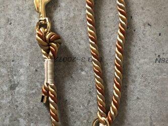 Twist Rope DogLeash,Gold/Beige/Brown(犬用リード ロープ,ゴールド/ベージュ/ブラウン)の画像