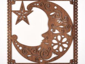 ビッグウッドフレーム「月の騎士」(木の壁飾り)の画像