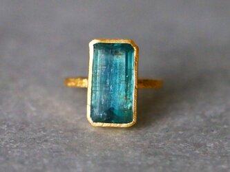 古代スタイル*天然カイヤナイト 指輪*7号 GPの画像