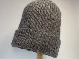 リブ編み・ニット帽の画像