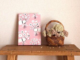「 bouquet (pink) 」 ファブリックパネルの画像