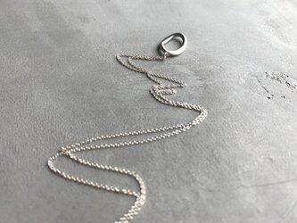 oval〜シルバーオーバルネックレスの画像