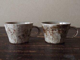 粉引きマグカップ(秋の葉)の画像