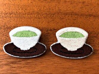 刺繍ブローチ 「お茶」の画像