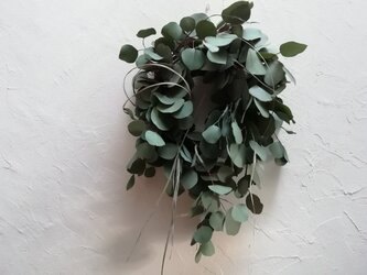 wreath-ユーカリとレモングラス(61cm)の画像