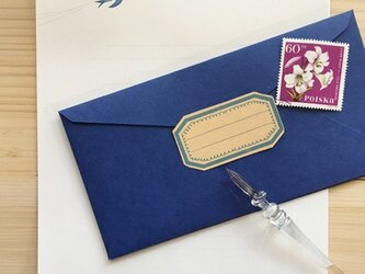 花と燕のレターセットの画像