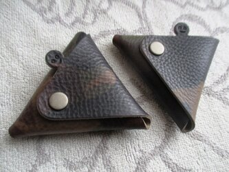 【再登場】迷彩(カモフラージュ)柄 ちょっと突き出た三角コインケース の画像