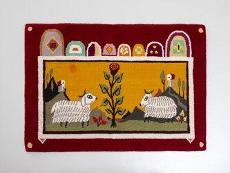 受注生産 オーダーメイド アートカーペット / 『羊』ビンバ・ランドマンの画像