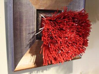 額装 紙束かべかけ 大 赤 紙束×タクラマカン コラボの画像