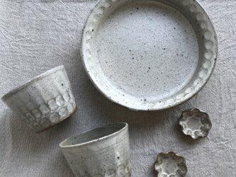 *福袋 粉ひきのフリーカップ、豆皿、ドラ鉢 5点セット(しのぎ柄)の画像
