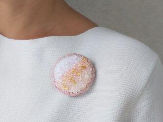#12  刺繍ブローチ 桜風の画像