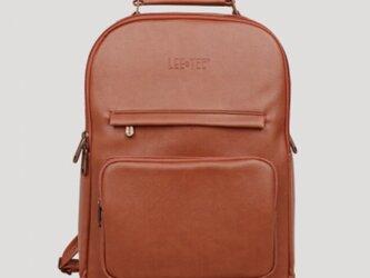 リュック メンズ レザー 大容量 バッグ 鞄 レディース ノートパソコン収納14インチ 防水の画像