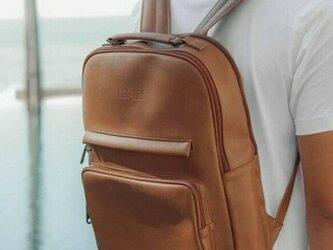 リュック メンズ レザー 大容量 バッグ 鞄 レディース パソコン収納14インチ 防水 旦那 プレゼントの画像