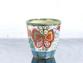 蝶絵のカップ(L)の画像