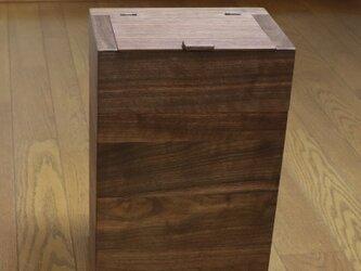 ⭕新作⭕「ウォルナット」 ごみ箱 B (開閉蓋付き L) <EB5L>【受注制作】の画像