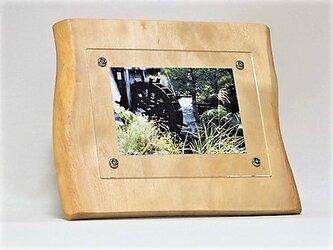 おしゃれな木のフォトフレーム No.3ミズキの天然木(L-25)の画像