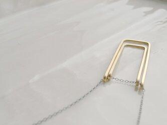 ructangle~真鍮ダブルロングネックレスの画像