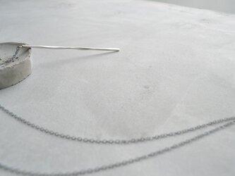 twig〜シルバーロングネックレスの画像