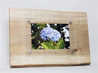 木製写真立て 壁掛け対応 No.9 朴の天然木(KG-18)の画像