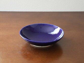 ルリ硝子釉の浅鉢の画像