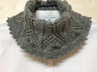 手編みウールネックウォーマーの画像