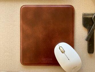 【 本革製 】マウスパッド ※ズレない加工の画像