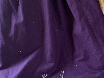 コットンフランネル ロングスカート 雪の中のサバトラたちの画像