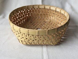 麻の葉編みかごの画像