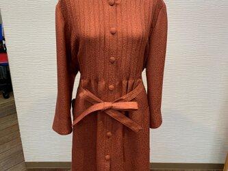 ワンピースコート(着物リメイク)の画像