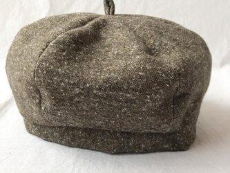 【送料無料】三毛猫屋のベレー帽:M(ふかふかネップ:ブラウン)の画像