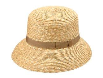 Casablanca カサブランカ つば広 麦わら帽子 ストローハット 帽子 ベージュ [UK-H042-BE-L]の画像