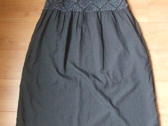 裏付き兵児帯ロングスカートの画像
