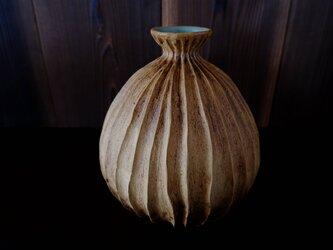 黄土しのぎ花器1の画像