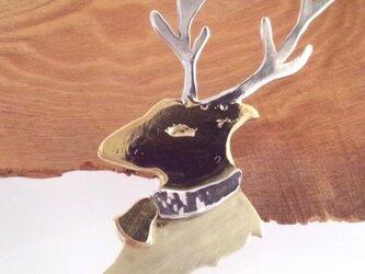 トナカイ Rein Deer ブローチ SV/Brassの画像