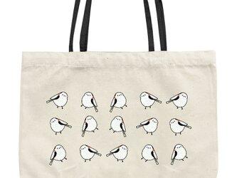 シマエナガのトートバッグ(S・白)の画像