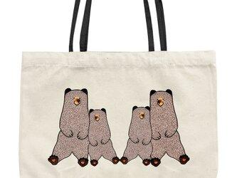 ヒグマのトートバッグ(S・白)の画像