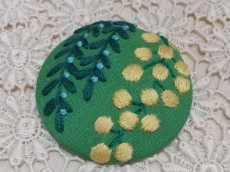 ミモザの刺繍ブローチ【mimosa】の画像