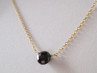 ブラックダイヤモンドのネックレス 14kgfの画像