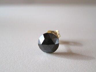 ブラックダイヤモンドのルースピアス 片耳 14kgfの画像