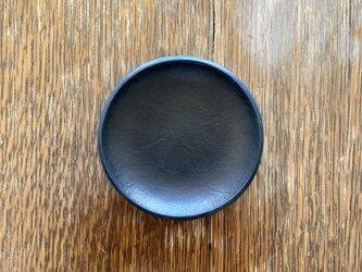 なめらか質感のトレー 本革製 ブラックの画像