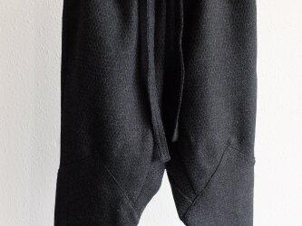 【new】きるもの|もんぺパンツ|ウール織刺子 [unisex freesize]の画像