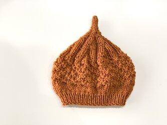 数量限定!ウールどんぐりニット帽子 新作  キャロットの画像