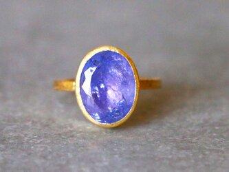 古代スタイル*天然タンザナイト 指輪*7号 GPの画像