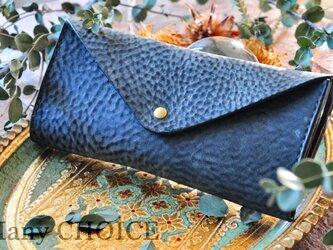 イタリアンバケッタレザー・アラスカ・長財布2(黒)の画像