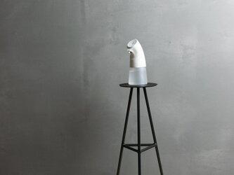 [アイアンのスリムテーブル オイル仕上げver] サイドテーブル 消毒液スタンド 花台 おしゃれ  玄関  オフィスの画像