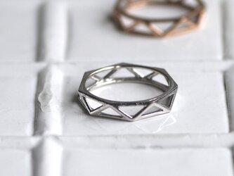 10Kホワイトゴールド Ring_0010の画像