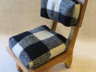 sokko's chair 黒xベージュチェック柄の画像