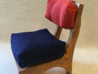 sokko's chair 紺色xオレンジ配色の画像
