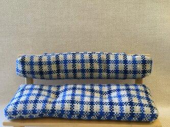 sokko's sofa 青x白チェック柄の画像